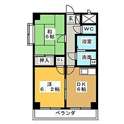 フラット柴田[5階]の間取り