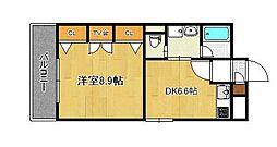コスモス小倉駅前2[7階]の間取り
