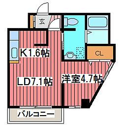 リトルズさっぽろ福住[7階]の間取り