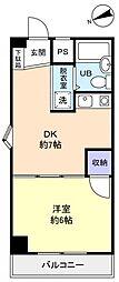 レジデンス松の木[2階]の間取り