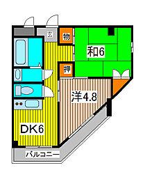 MOMO8[4階]の間取り