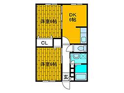 サンホワイトM207[2階]の間取り