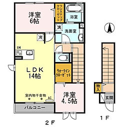 グランジュールB[2階]の間取り