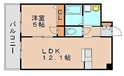 スタンドリバー松島[4階]の間取り