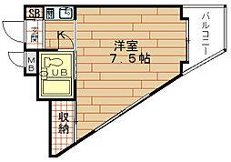 ビブレ佐々木[3階]の間取り