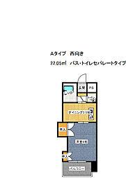 グレイスフル第3東三国 4階1DKの間取り
