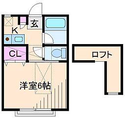 神奈川県横浜市港北区高田東1の賃貸アパートの間取り