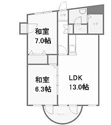 プレミエール円山[2階]の間取り