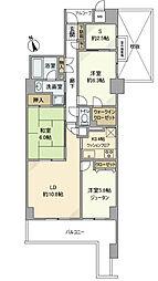 ネオマイム戸塚ビューステージ[5階]の間取り