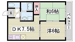 ロイヤルシャトーⅢ[3階]の間取り