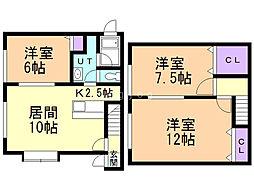 SKハイツ藤野 1階3LDKの間取り