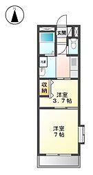 シティーサンフラワー[3階]の間取り