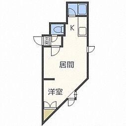 北海道札幌市豊平区水車町2丁目の賃貸アパートの間取り