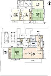 [一戸建] 宮城県仙台市泉区高森7丁目 の賃貸【/】の間取り