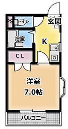 グランデュールK[3階]の間取り