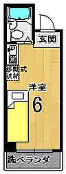 ユーシティ早川[201号室]の間取り