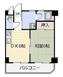 ボヌール片野[3階]の間取り