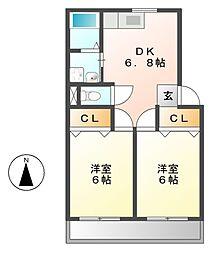 第1高杉マンション[4階]の間取り