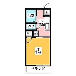 コーポいこい A棟[2階]の間取り