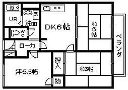ハーモニー 1[3階]の間取り