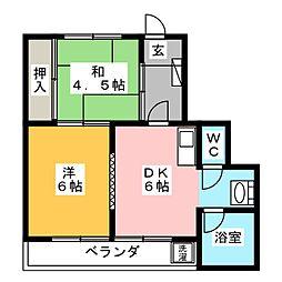 朝日堂コーポ[2階]の間取り