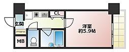 エスリード新神戸[9階]の間取り