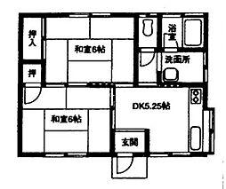 埼玉県行田市忍2丁目の賃貸アパートの間取り