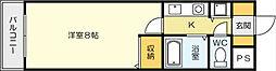 Bergamotto 吉野町[5階]の間取り