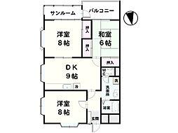 田村レジデンス[201号室]の間取り