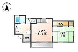 第3栗本荘[1階]の間取り