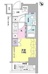 東京都品川区西五反田6丁目の賃貸マンションの間取り