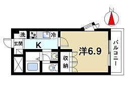 奈良県奈良市五条2丁目の賃貸アパートの間取り