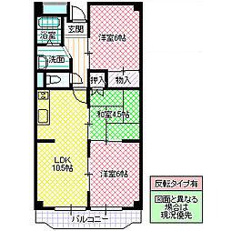 栄マンション[305号室号室]の間取り