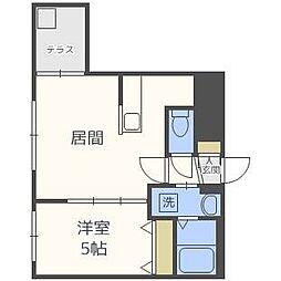 北海道札幌市豊平区平岸五条7丁目の賃貸マンションの間取り