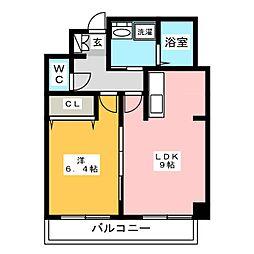 パークサイド博多[8階]の間取り
