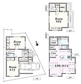 建物参考プラン:間取り/3LDK、延床面積/106.99m2、建物参考価格/2052万円(税込)