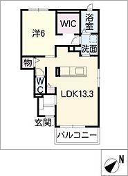 レジデンス・サンリット B棟[1階]の間取り