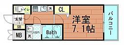アドバンス大阪ベイストリート[5階]の間取り