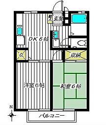 セントラル泉B棟[1階]の間取り