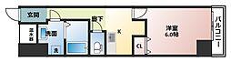 ウーロ玉造II[4階]の間取り