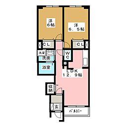 レガーミ[1階]の間取り