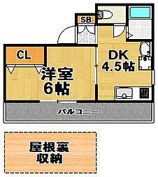 ロイヤルコート[10階]の間取り