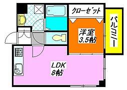 シティコート・布施駅前 102号室[1階]の間取り