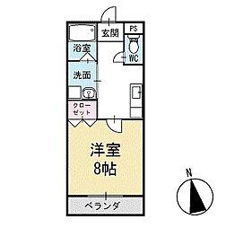 パーシモンガーデン 2階[103号室]の間取り