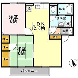 ディアコート A棟[2階]の間取り