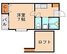 福岡県福岡市城南区別府6丁目の賃貸アパートの間取り