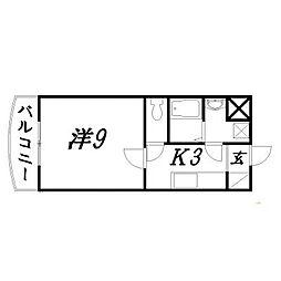 静岡県浜松市中区神田町の賃貸マンションの間取り