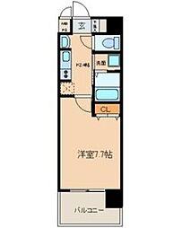 クレジデンス黒川[8階]の間取り