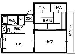 ソファレ堺東[2階]の間取り