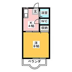 カーサ江島IIA[2階]の間取り